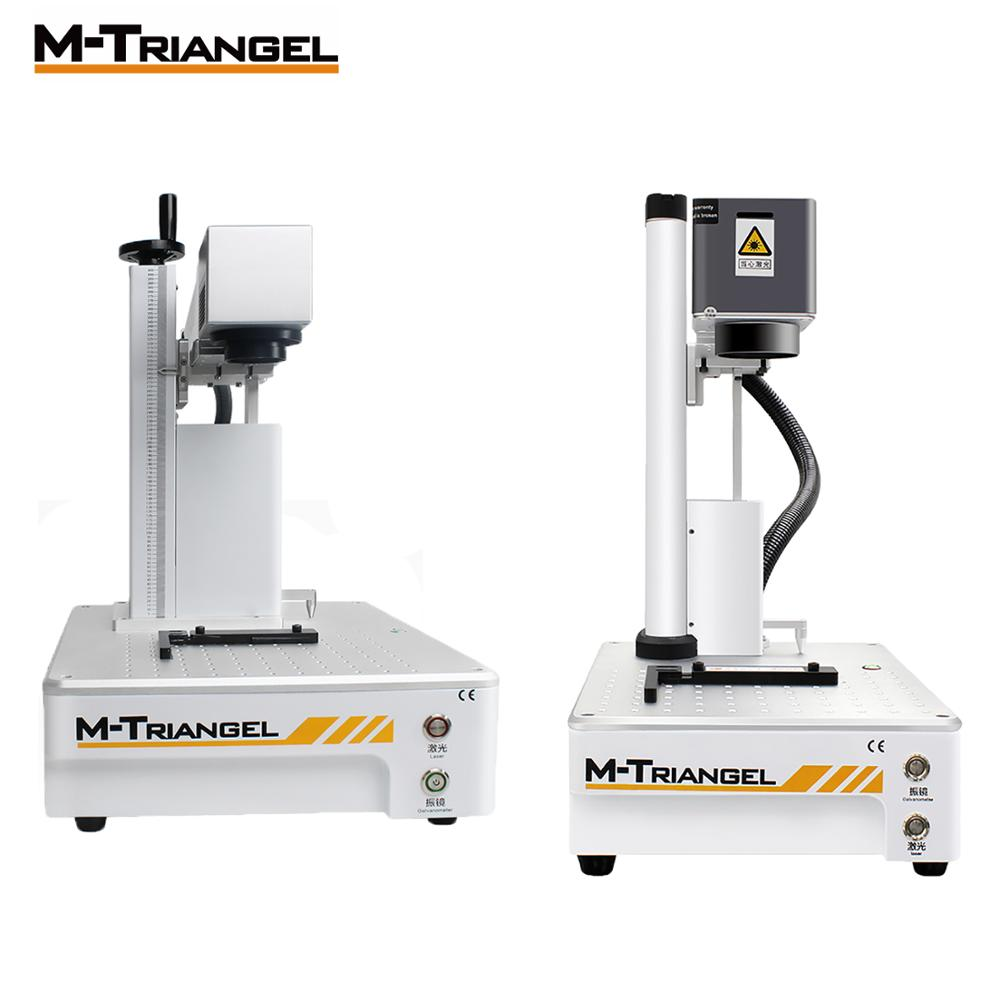 Máquina de grabado láser profesional de fibra de 20W 30W máquina de marcado de Metal usada para grabado de madera de aluminio y oro y latón router