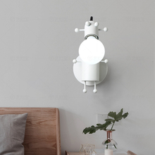 Modern LED Lighting Wall Lamp Acrylic Deer Head Small Wall Lamp for Interior Decoration Study Bedroom Children Room Wall Lamp
