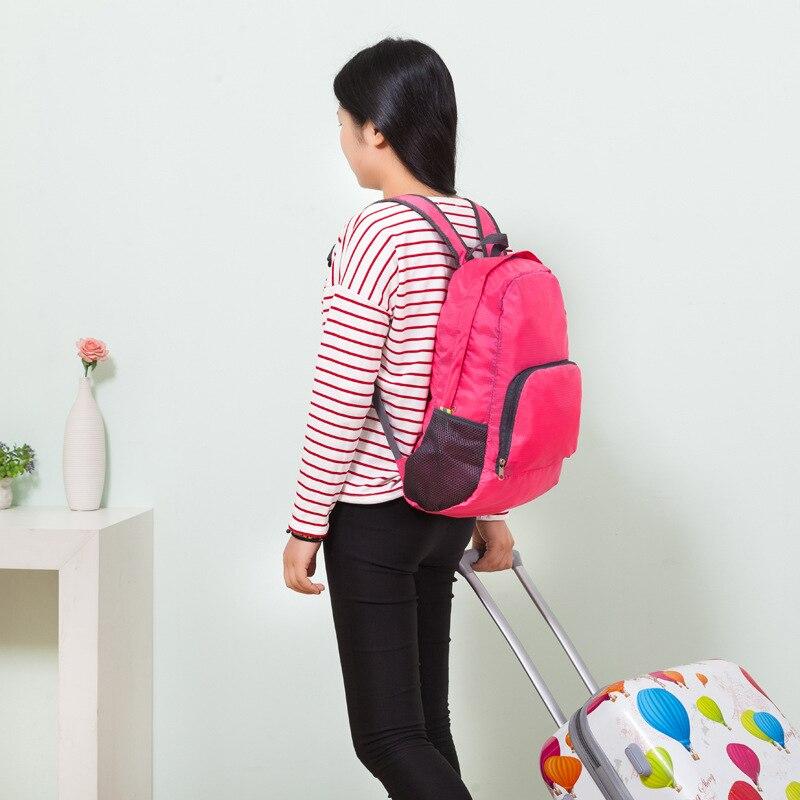 Women Travel Backpack School Bag Men's School Backpack Large Capacity Foldable Backpack Nylon Rucksack Lightweight Shoulder Bag