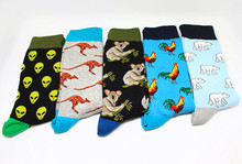 2019 colorful happy socks cartoon animal series new men personality trend fashion funny and hip pop gifts for