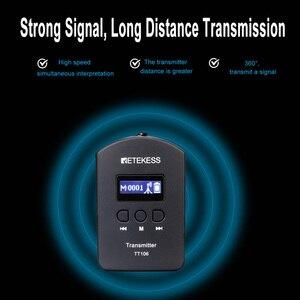 Image 5 - Retekess tt106 uhf transmissor sem fio profissional para o sistema de guia turístico sem fio conferência tour igreja simultânea