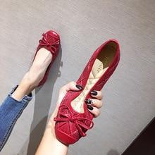 נעלי אישה Gestante סתיו נשים נעלי דירות Mujersapato Feminino Ballerine Femme גבירותיי נעליים שטוחות בוהן עגול PU מוצק גומי