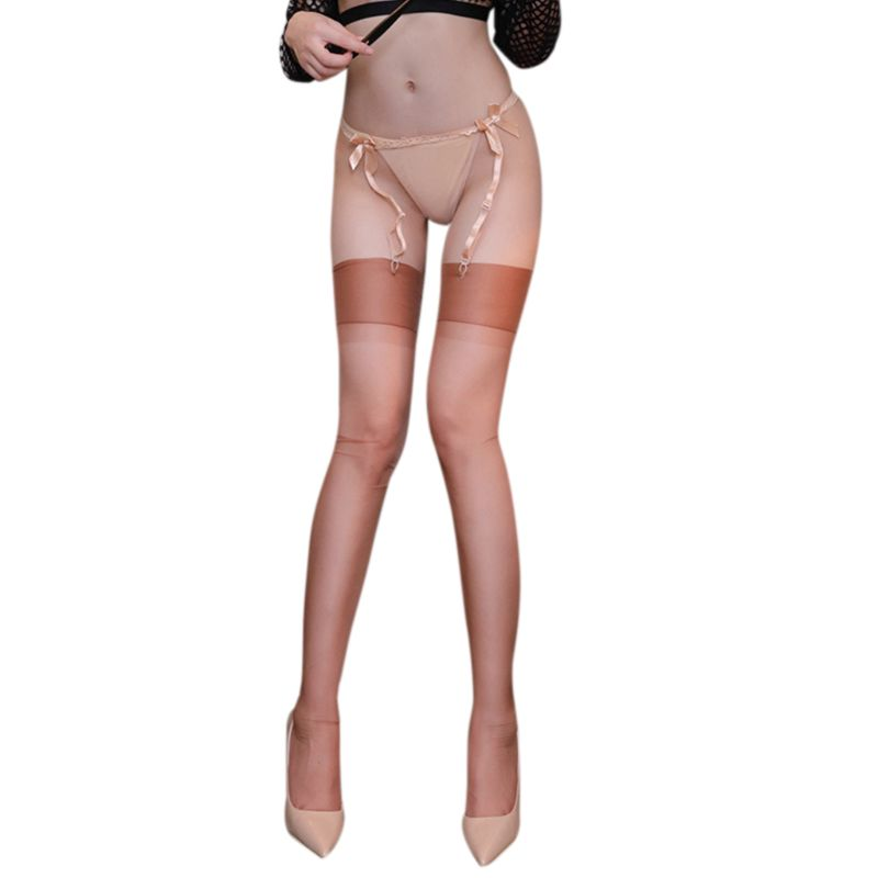 5D Ultra-Thin Nylon Long Socks Wide Band Patchwork Over Knee High Stockings New
