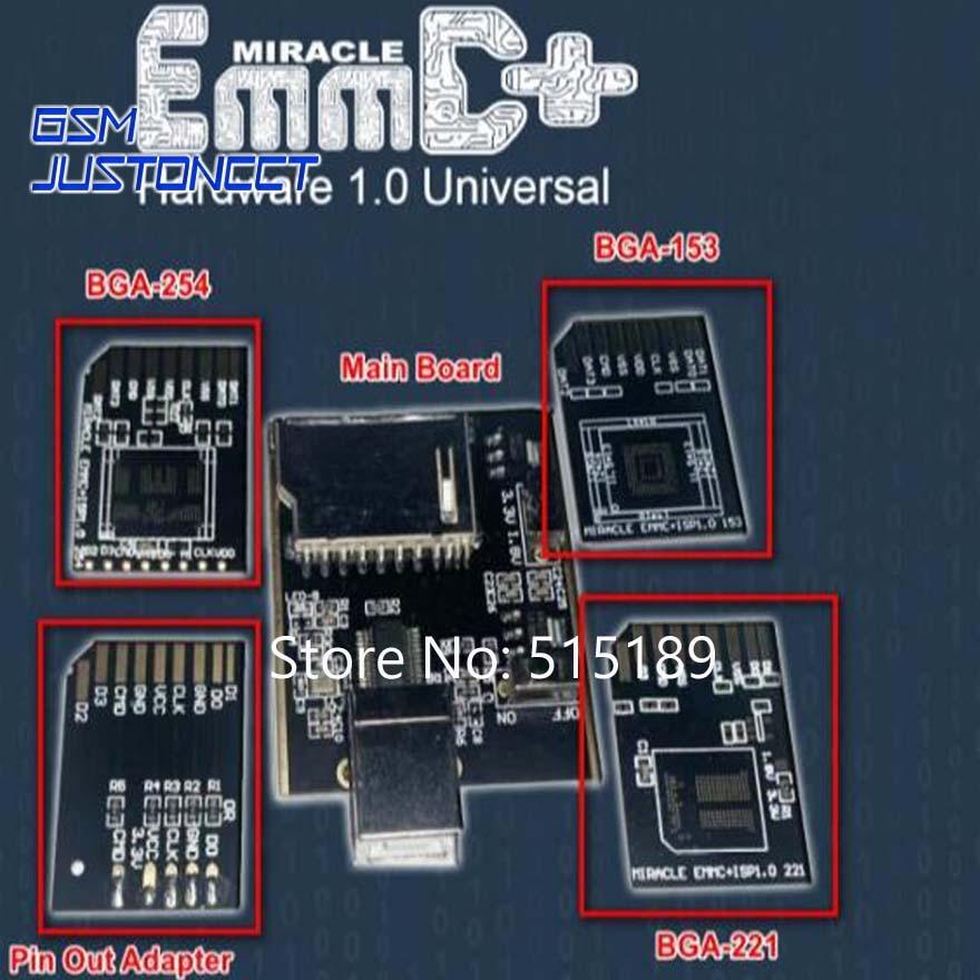 Miracle EMMC Adapter +Hardware 1.0 Universal Bga 221,153,254 Plate