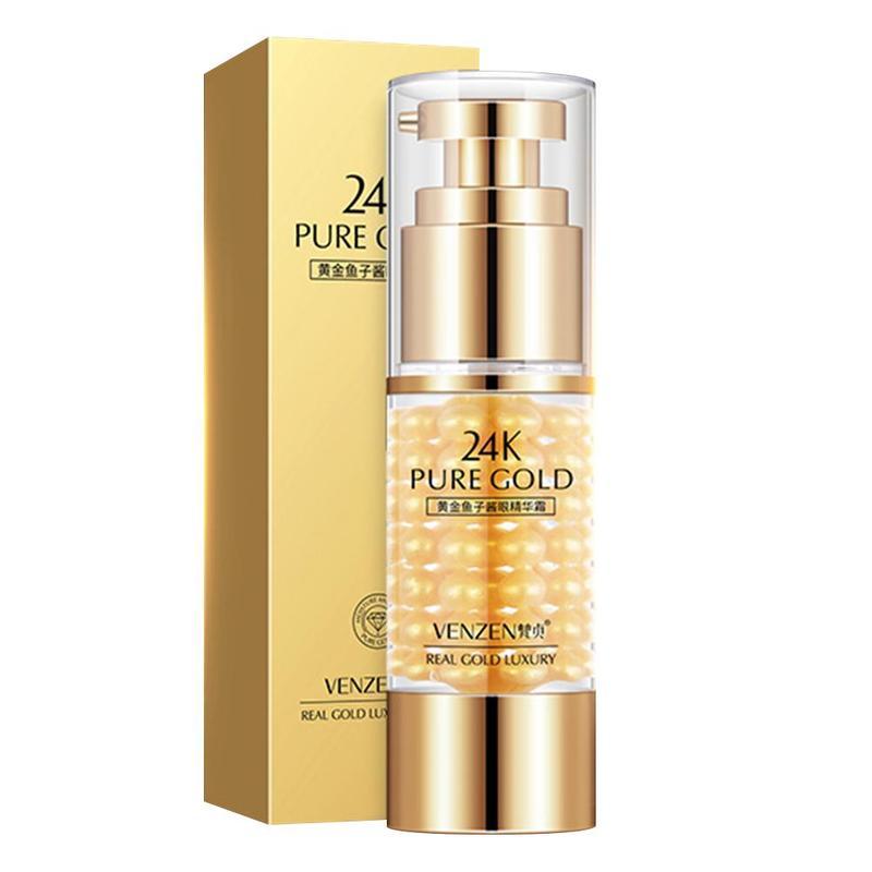 35g Natural 24k Gold Caviar Eye Serum Anti-wrinkle Puffiness Remover Dark Circles  Eye Cream Anti Aging Eye Care Cream