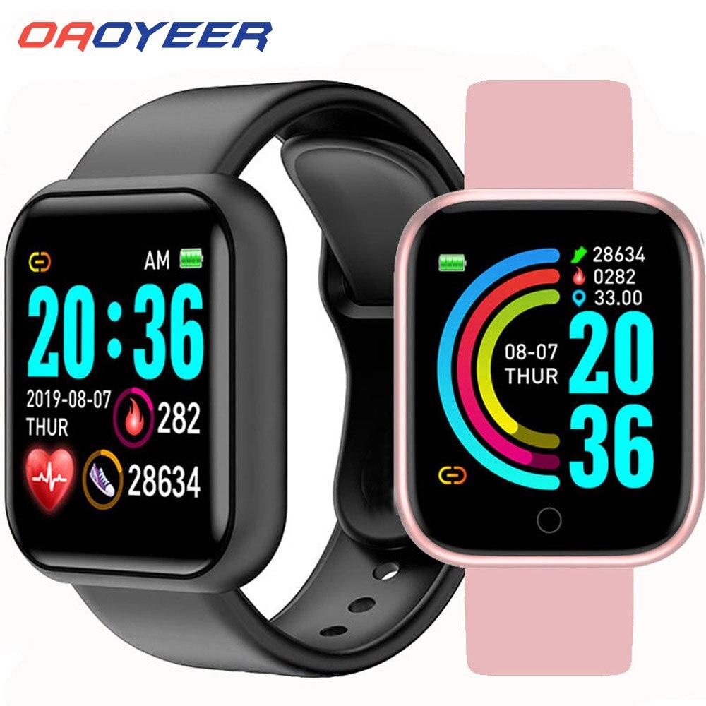 D20 bluetooth relógios inteligentes homens à prova dwaterproof água esporte rastreador de fitness inteligente pulseira pressão arterial monitor freqüência cardíaca y68 smartwatch