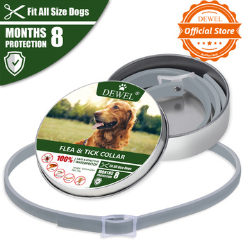 Dewel Dog Collar Anti Flea Mosquitoes Ticks Insect Waterproof Herbal Pet Collar 8 Months Protection Dog Accessories 1