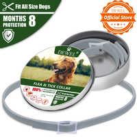 Dewel Hund Katze Kragen Anti Floh Zecken Mücken Outdoor Schutzhülle Einstellbar Wasserdicht Kragen 8 Monate Langfristige Schutz