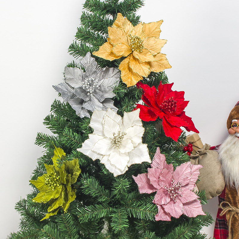 Top 10 Glitter Christmas Artificial Flower List And Get Free Shipping A598
