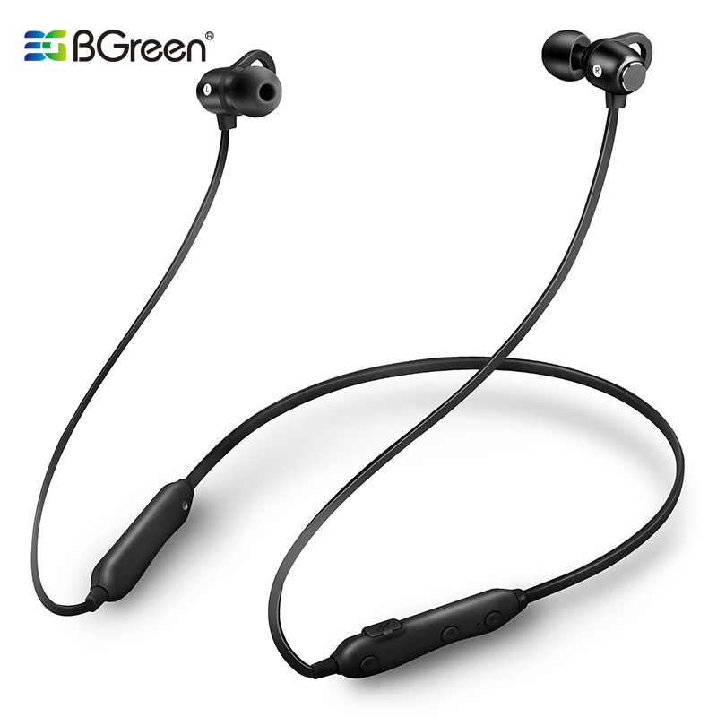 BGreen Sport <font><b>Bluetooth</b></font> 5.0 Sport Headset Waterproof Running Magnet Adsorption <font><b>Earphone</b></font> image