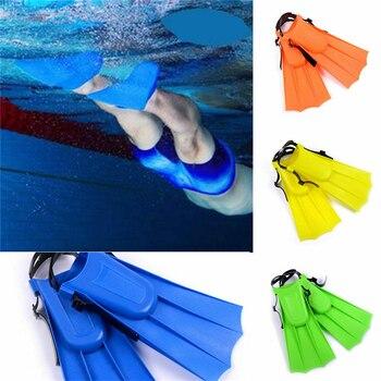 Aletas de natación para niños súper antideslizantes, pie completo, aletas de buceo ultraligeras, suministros de buceo, actividades acuáticos adecuadas