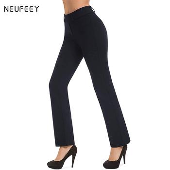 Spodnie dla kobiet odzież Plus Size mody luźne spodnie na co dzień proste spodnie pełnej długości kobiece ciało stałe szerokie spodnie nogi kobiet tanie i dobre opinie COTTON Poliester CN (pochodzenie) Wiosna jesień Ołówek spodnie Mieszkanie skinny Osób w wieku 18-35 lat NONE Suknem