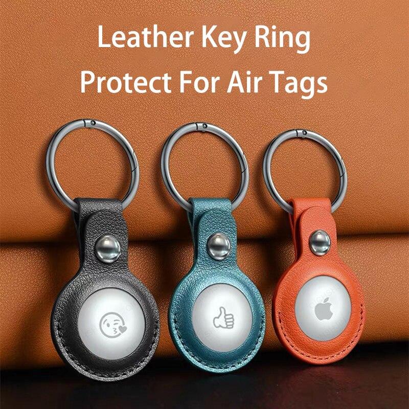 Защитная крышка для AirTags противоударный PU кожаный чехол в виде ракушки расположение защитник трекера AirTags Bluetooth трекер аксессуары для часов