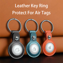 Protective Cover for AirTags Shockproof PU Leather Case Shell Location Tracker Protector AirTags Bluetooth Tracker Accessories