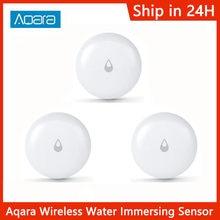 Hot Aqara IP67 Water Immersing Sensor Flood Water Leak Detector For Home Remote Alarm Security Soaking Sensor Zigbee Wireless