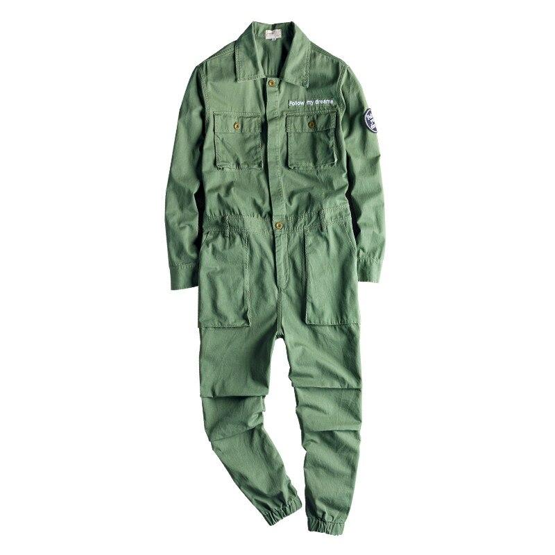 MORUANCLE Men Fashion Hip Hop Jeans Jumpsuits Workwear Denim Bib Overalls With Multi Pockets Suspender Pants For Male Size S-3XL