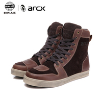 ARCX Motorcycle Boots Waterproof Cow Leather Moto Riding Boots Men Road Street Casual Shoes Motocross Breathable Protective Gear