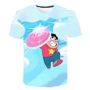 New 3D T Shirt Men Women Children Print Cartoon Anime Steven Universe T-Shirt Kids Boy Girl Short Sleeve Tops Tees Clothing(China)