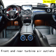 Turbo LED Car Air Ventilation Air Conditioning Ventilation Decorative Lights Environment Lights for Mercedes GLC Class x253