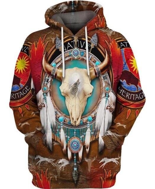 hot sale Native Indian 3D Hoodies/sweatshirts Men Women New Fashion Hooded winter Autumn Long Sleeve streetwear Pullover-10 4