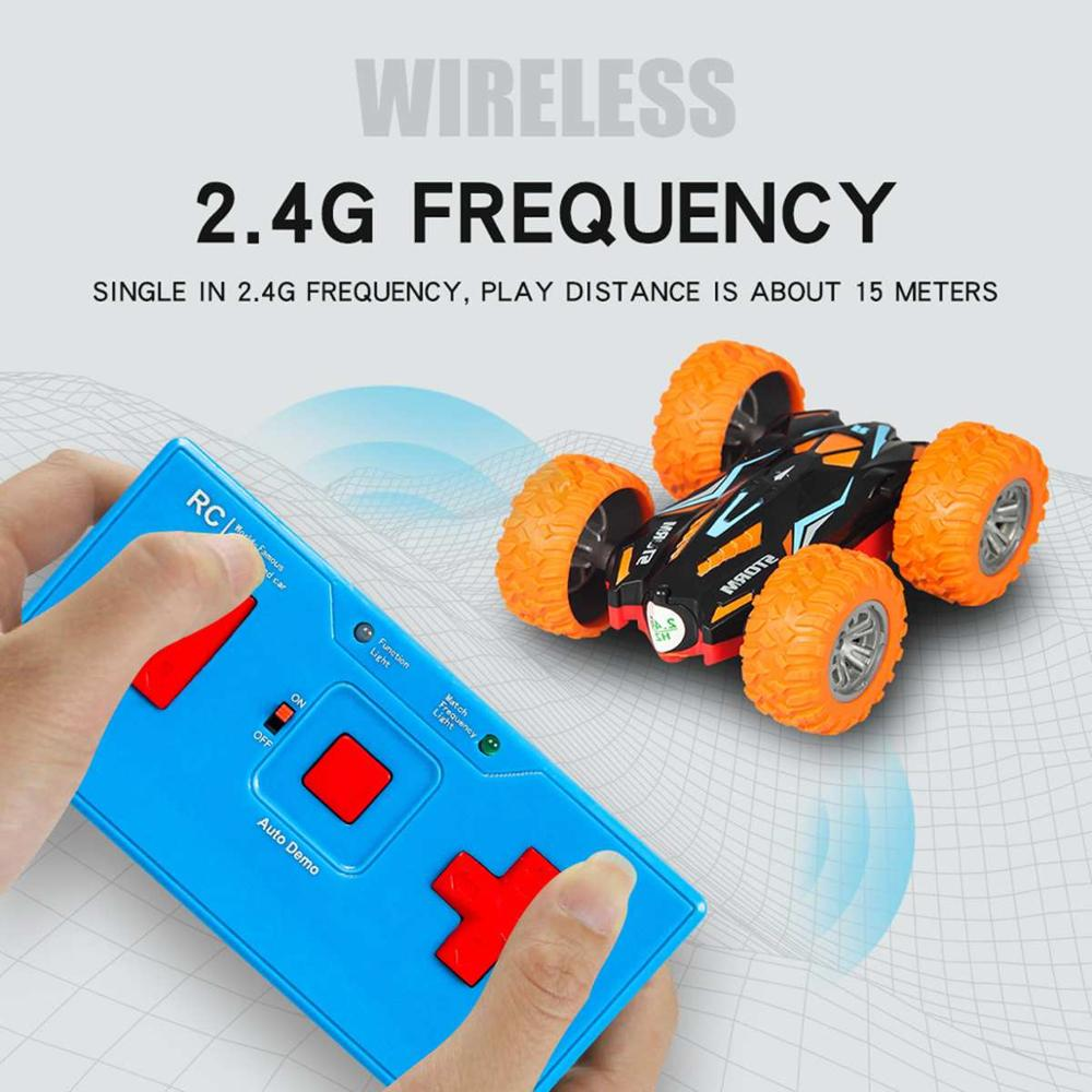 Double-side Roll 3D Flip Remote Control <font><b>RC</b></font> Car Robot <font><b>Drift</b></font>-Buggy Crawler Battery Operated Stunt Machine USB Radio Controlled Toy image