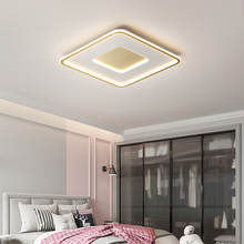 Master bedroom lamp simple modern round led living room lamp ultra-thin creative study Nordic light luxury room Ceiling light nordic simple kitchen loft led ceiling light living study dinning room modern creative wood bedroom aisle lustre lamp garland