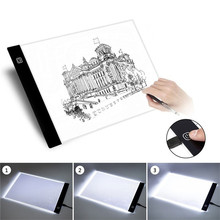A5 LED Drawing Board Pad USB Powered Ultra-thin Animation Tracing Light Box Lightbox Tablet Blank Canvas with 3 level Dimming ultra thin acrylic maggic mirror led lightbox photo frame wall mounted 600mmx600mm size board
