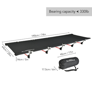 Image 5 - 휴대용 Foldable 캠핑 침대 단일 사람 야외 접는 침대 330LB 베어링 무게 컴팩트 야외 피크닉 캠핑에 대 한