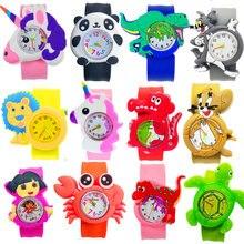 Производители оптовая продажа детские часы Мультяшные динозавры