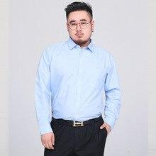 Blouse Dress-Shirt Office Business Long-Sleeve Black Formal Male Men Plus-Size 5XL Classic