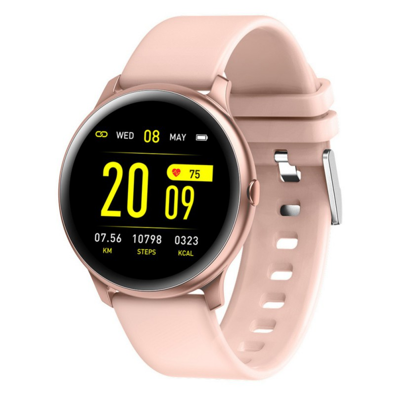 BALIGHT <font><b>KW19</b></font> <font><b>Women</b></font> <font><b>Smart</b></font> <font><b>watch</b></font> Waterproof Blood oxygen Heart rate monitor Men sport smartwatch for IOS and Android image