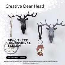 Творческий голова оленя стены крючок Винтаж с изображением оленьих