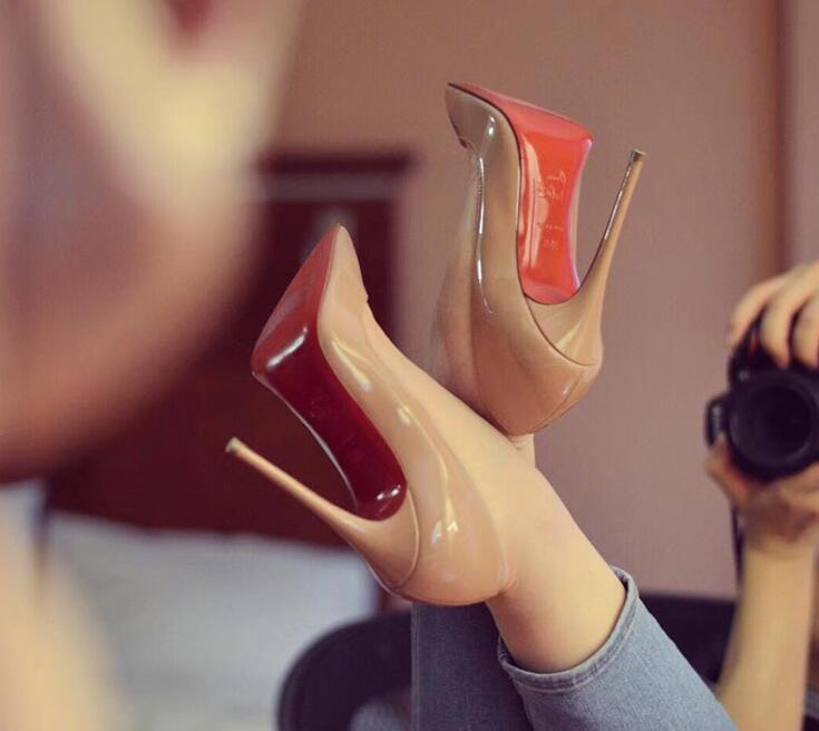 2020 Brand Woman 8cm 10cm 12cm Red High Heel Shoes Thin Heel For Women Wedding Shoes Super High Heels With Drawer Dress Shoes