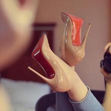 2020 Brand Woman 8cm 10cm 12cm Red High Heel Shoes Thin