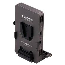 Tilta TA BTP2 V G adaptador de barra LWS de 15mm Placa de batería de montaje en V para alimentar la cámara 4K BMPCC