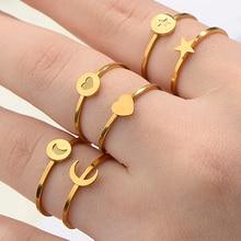 ZUUZ кольцо на палец с надписью кольца для женщин женские из нержавеющей стали серебряные золотые ювелирные изделия аксессуары для мужчин мужские лунные украшения для девочек