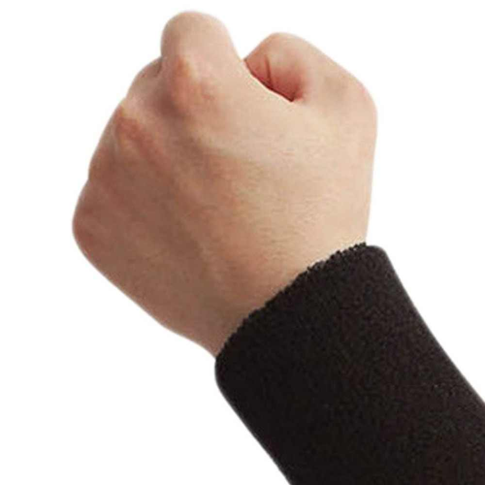 1 par de pulseras de Fitness profesional banda para el sudor deportiva banda de mano sudor muñequera soporte envoltura de Bádminton de tenis