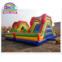 2019 hot inflatable jumping castle, Commercial grade cartoon Inflatable Bouncer Jumping Bouncy Castle With Slide For Kids(China)