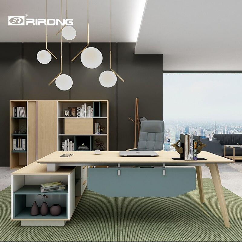 Modern Design Complete Office Furniture L-Shaped Work White Table Desk Furniture Standing Table Office Workstation Laptop Desk