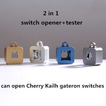 1pc 2 in 1 mechanical keyboard magnetic suction CNC metal switch opener shaft opener for Kailh Cherry gateron switch tester