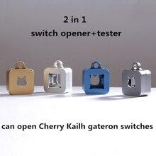 Teclado mecánico 2 en 1 de succión magnética CNC, interruptor de apertura de metal, abridor de eje para Kailh Cherry gateron, probador de interruptor, 1 ud.
