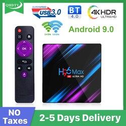 QHDTV tv box z androidem hiszpania arabski H96MAX 3318 4K 10000 + podwójna częstotliwość WIFI BT 4.0 arabski hiszpania włochy belgia smart box brak aplikacji