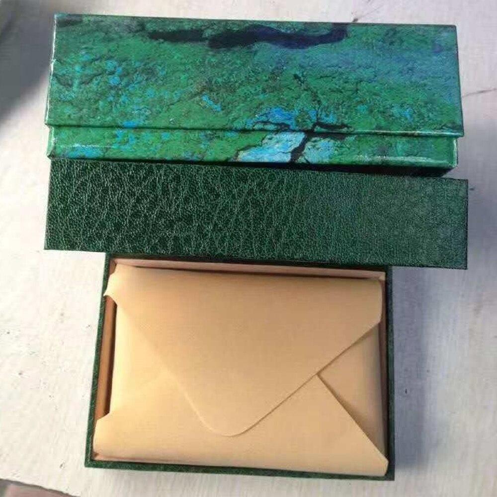Caixa de relógio verde perpétuo de alta