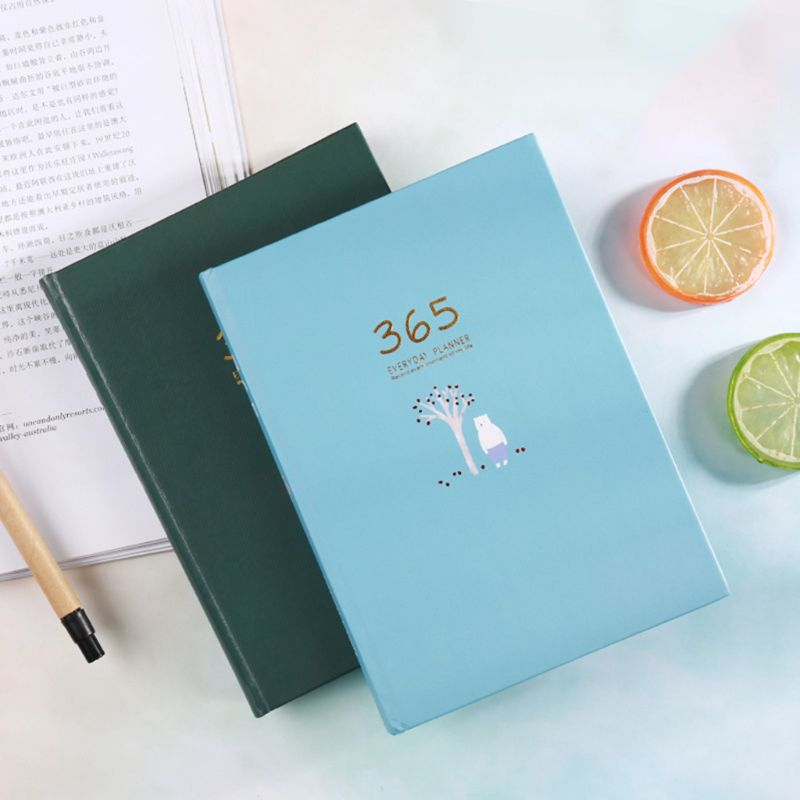 Cute Stationery Notebook 365 Planner Weekly Monthly Daily Diary Planner Notebooks Journals Business Office School Supplies Qyh