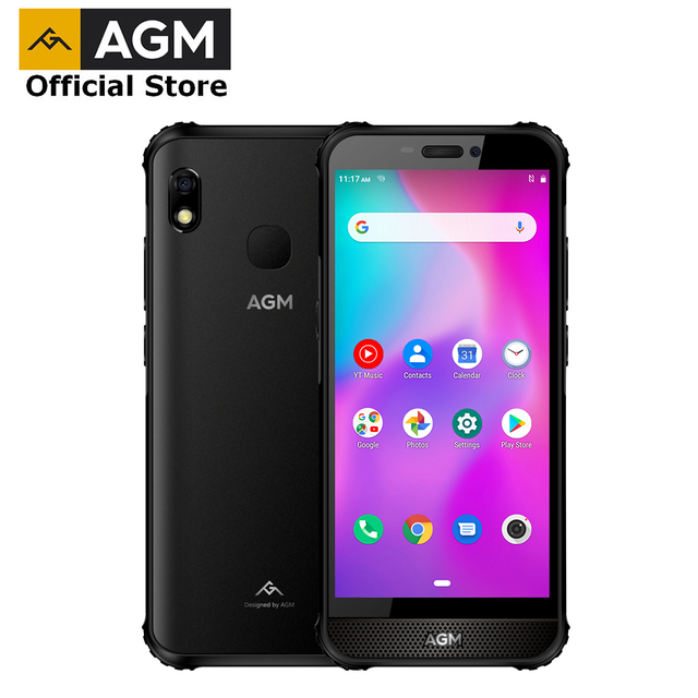 "OFFICIAL AGM A10 Front placed speaker 5.7"" HD+ 6G +128G Android™ 9 Rugged Phone 4400mAh IP68 Waterproof Smartphone"