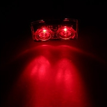 2Led Owl Eyes Super Bright Bicycle Tail Lights Mountain Bike Warning Cycling Equipment Accessories