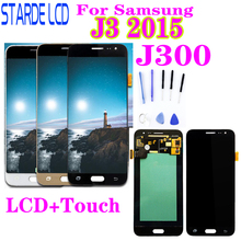 For Samsung Galaxy J3 J300 J320 J320A J320F J320M LCD Display With Touch Screen Digitizer Assembly J3 2015 J300 LCD цена и фото