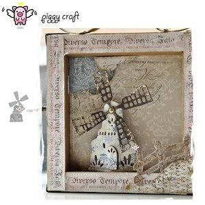 Image 1 - Piggy Craft do cięcia metalu umiera cięcia formy zamek wiatrak dom papier do notatnika craft nóż formy ostrze wykrojniki szablony umiera