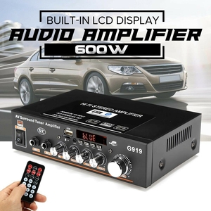 Image 2 - 600W 110V Amplifier HIFI bluetooth Stereo Power 2 CH AMP Audio Player Car Home Car Electronics Car Audio Amplifiers