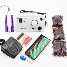 35000 RPM Elektrische Nagel Bohren Maniküre Maschine Pediküre Kits Gerät für Maniküre Nagel Zubehör Werkzeuge Nagel Datei Bohrer Bits